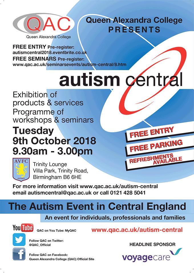 Queen Alexandra College Presents... Autism Central 2018