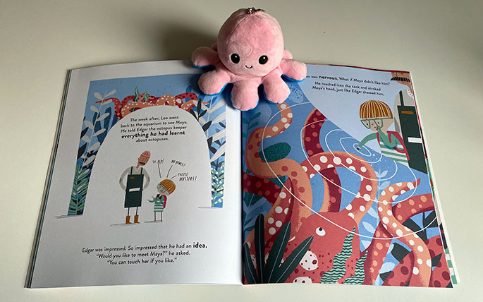 Leo and Octopus, by Isabelle Marinov, illustrated by Chris Nixon, is a sensitive and perceptive story about a little boy who struggles to make sense of the world until he meets Maya the octopus.