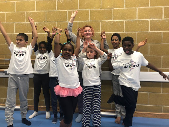 MovementWorks is an organisation that provides high-quality movement and dance education and promotes 'Action For Learning, Health and Well-Being'